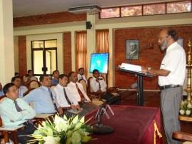 Prof. Raj Somadewa delivering the keynote address