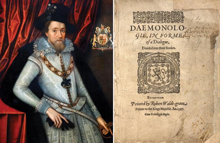 Pendle James I Portrait Daemonologie Composite