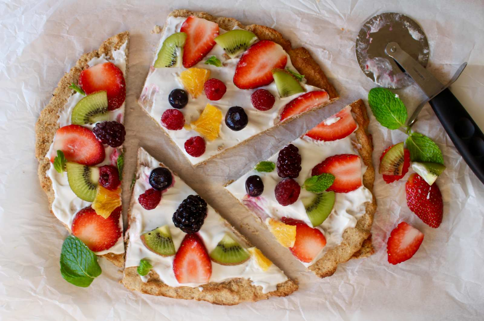 Healthy Fruit Pizza Recipe For Breakfast By Archana S Kitchen