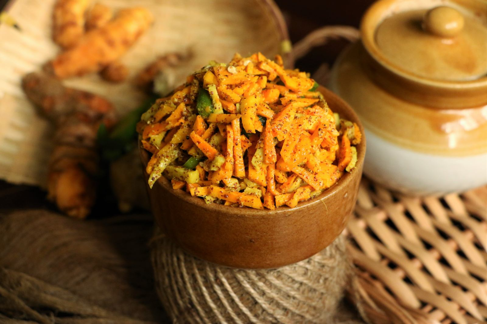 Turmeric Ginger And Chilli Pickle Recipe By Archanas Kitchen