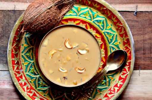 Ada Pradhaman Recipe - Kerala Style Rice Ada Pudding With Jaggery & Coconut Milk