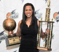 Surge GM Khalia Collier with 2014 Trophies