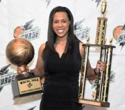Surge GM Khalia Collier with 2014 Trophies