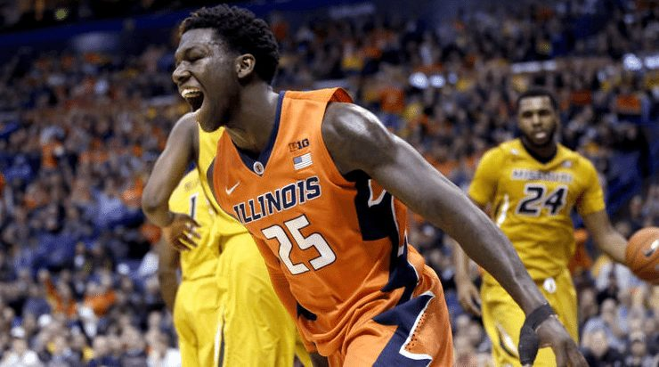 Kendrick Nunn celebrates after a score in the first half on Wednesday, Dec. 23, 2015 at the Scottrade Center in St. Louis, Mo. Photo by Jeff Roberson/Associated Press.