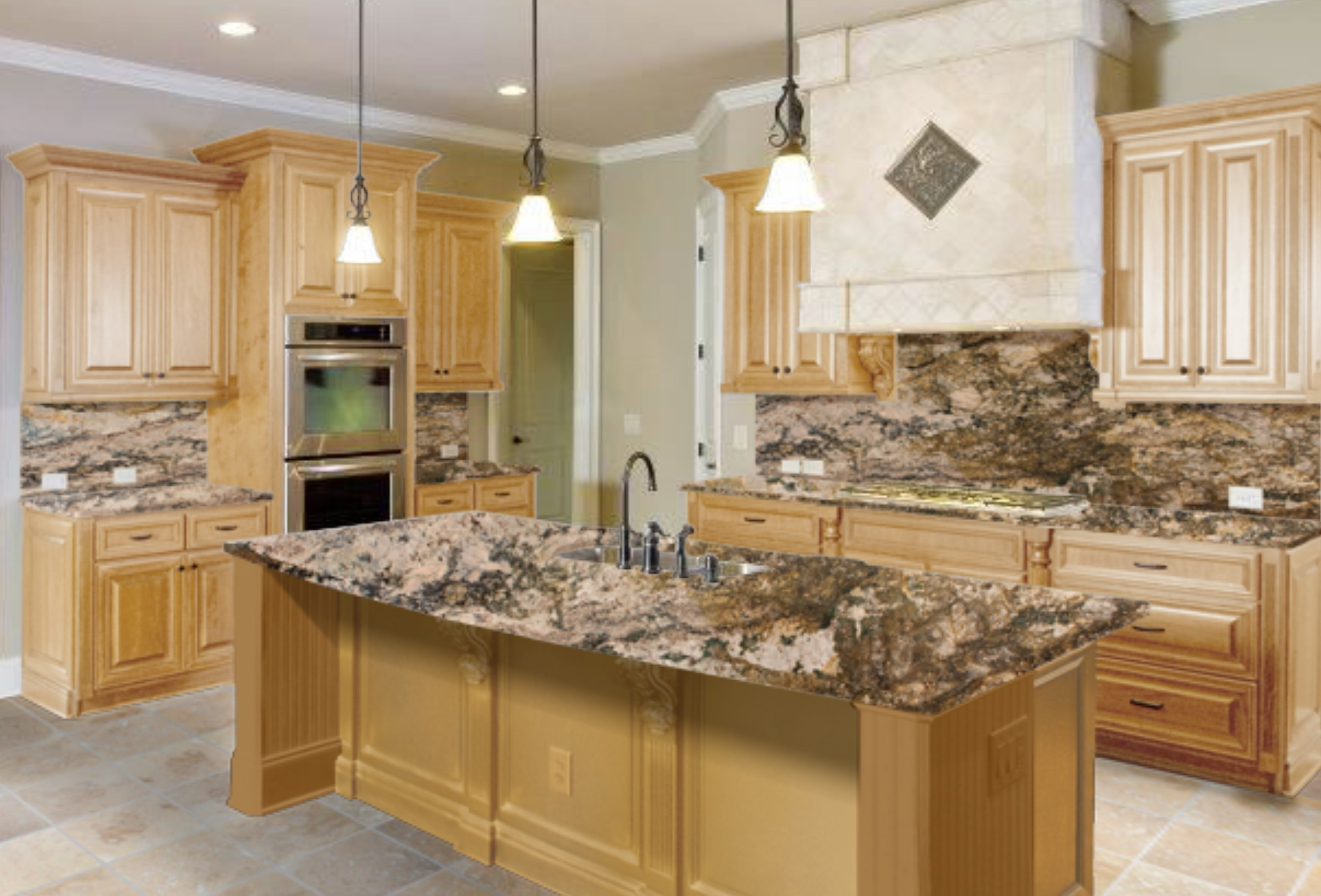 Granite Countertops for Maple Cabinet | Arch City on Kitchen Countertops With Maple Cabinets  id=94913