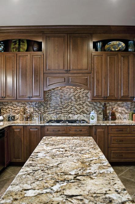 "Granite Backsplash: How to Choose Between 4"" and Full Height on Best Backsplash For Granite Countertops  id=56735"