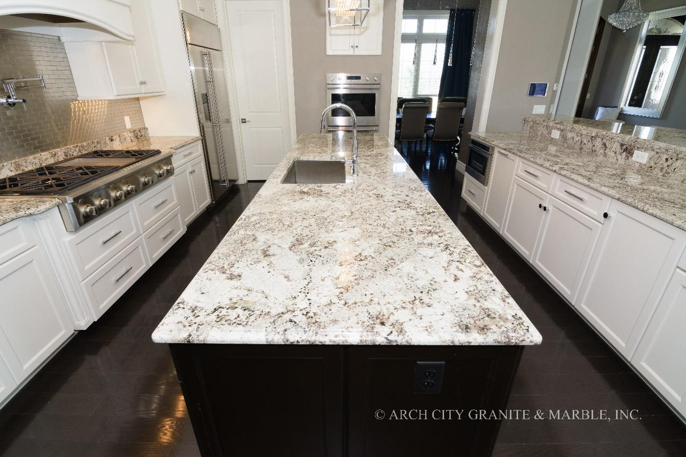 Top White Granite Colors in 2020 Updated on What Color Cabinets Go Best With Black Granite Countertops  id=31611