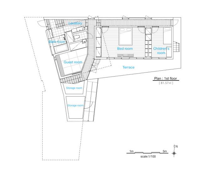 Les Aventuriers - Shun Hirayama Architecture first floor plan