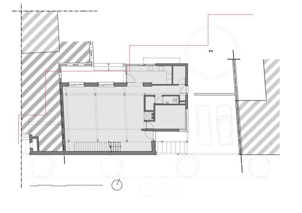 Franken House - Bekhor Architecte ground floor plan