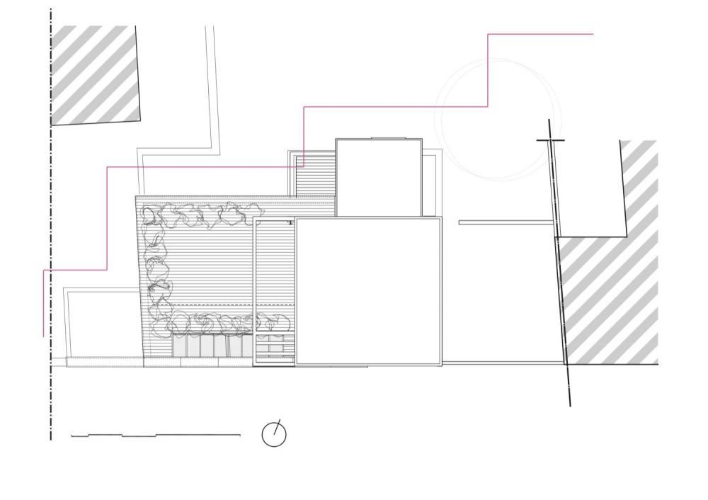 Franken House - Bekhor Architecte roof plan