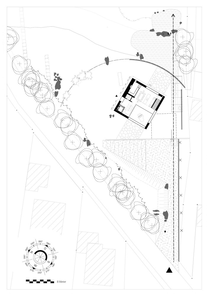 House - Topoi Engelsbrand - Office for Architecture Stocker site plan