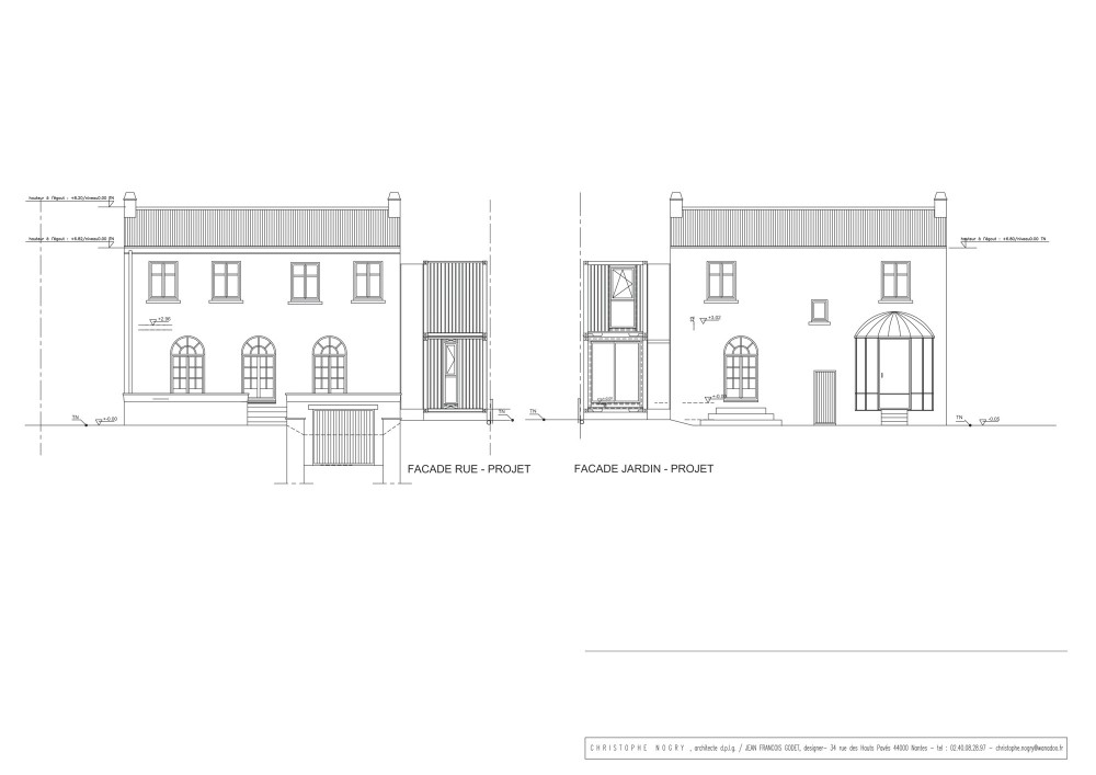 House extension - Christophe Nogry elevations