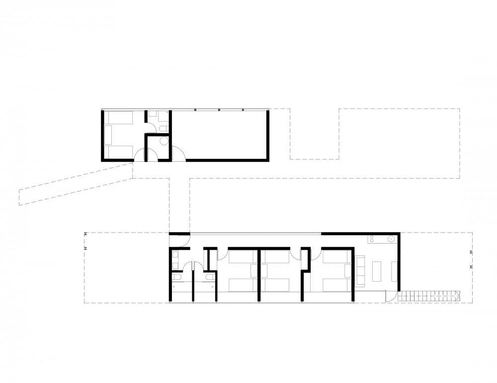 Los Molles House - Oltmann Ahlers W. - Oltmann Ahlers G. - dRN Arquitectos level 00 plan