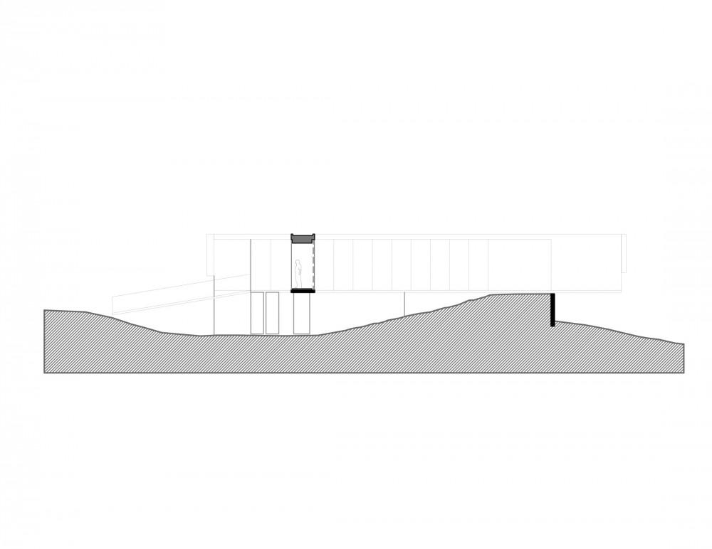 Los Molles House - Oltmann Ahlers W. - Oltmann Ahlers G. - dRN Arquitectos section B