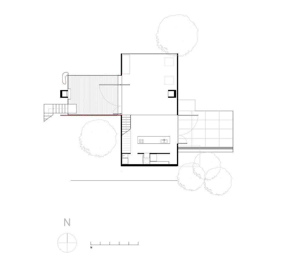 Bonnet Hill House - Dock4 Architecture ground floor plan