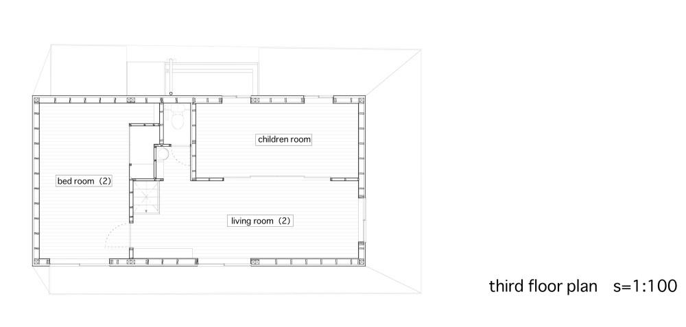 Between - Katsuhiro Miyamoto & Associates third floor plan