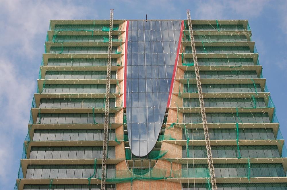 fotos construcción torre de oficinas