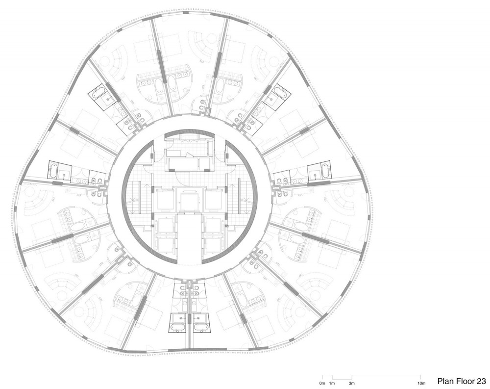 hotel plantas hotel tower floor plan 1