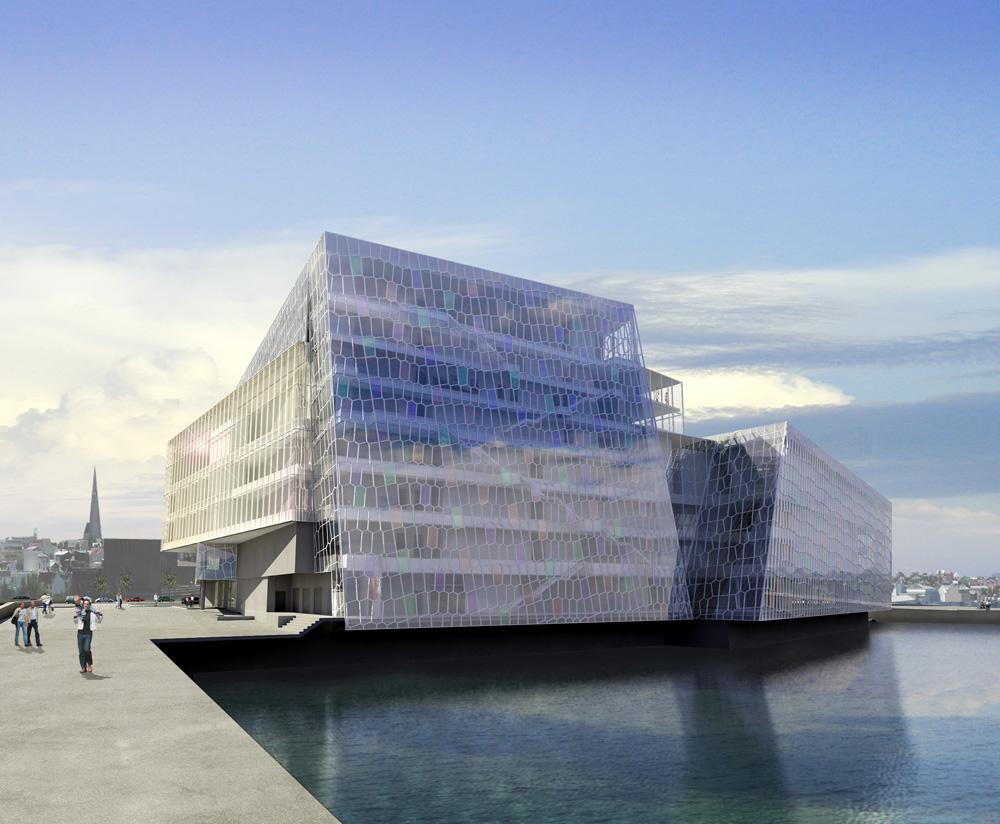 _Exterior 1 © 2007 Portus ehf., Olafur Eliasson, and Henning Larsen Architects