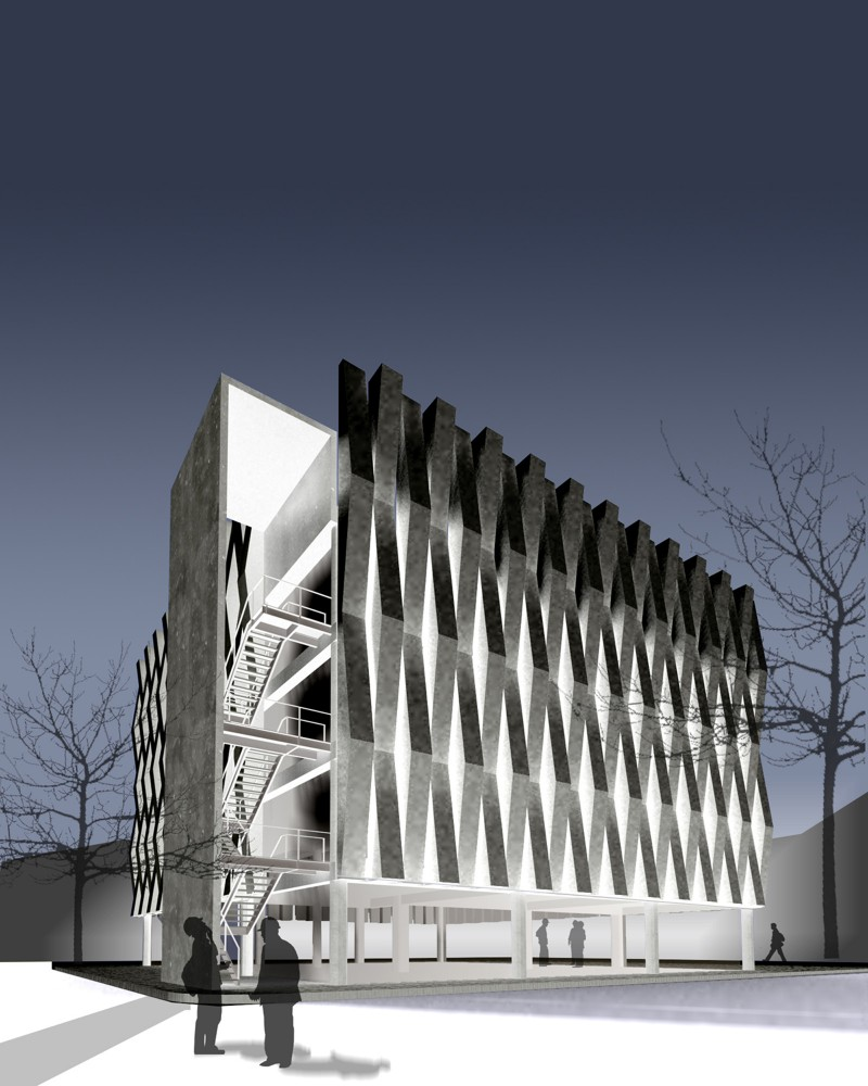 Argos, Building for an Electrical Generator at a Cement Factory - Felipe Gonzalez-Pacheco render 01