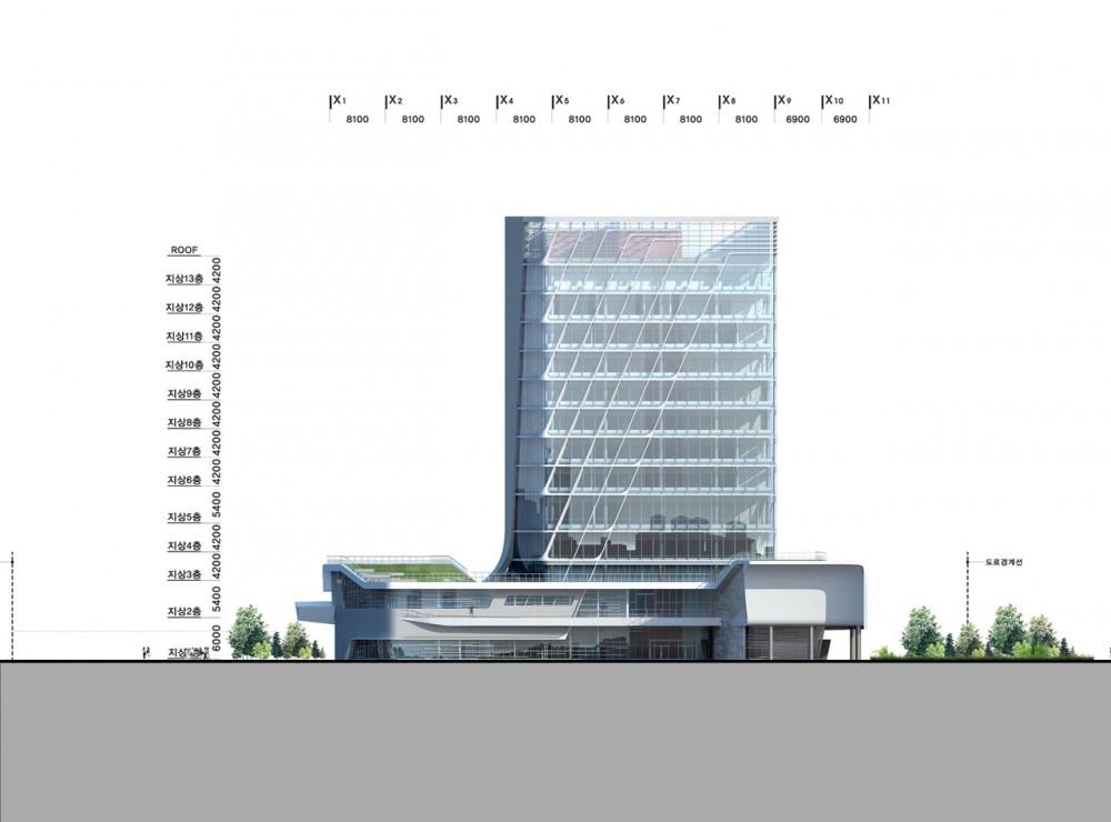 The Korea Teachers Pension Head Office / Tomoon Architects and Engineers elevation 02