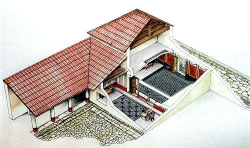 Ricostruzione grafica di una domus romana
