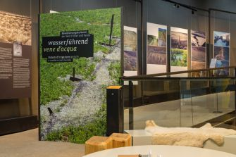 "Eröffnung der Sonderausstellung ""Wasserführend"" im archeoParc SchnalstalInaugurazione della mostra ""Vene d'acqua"" nell'archeoParc Val SenalesExhibition on different irrigation systems at the archeoParc Val SenalesarcheoParc Schnalstal7 July 2019"