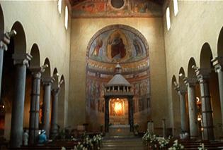 Interno della chiesa di San Saba