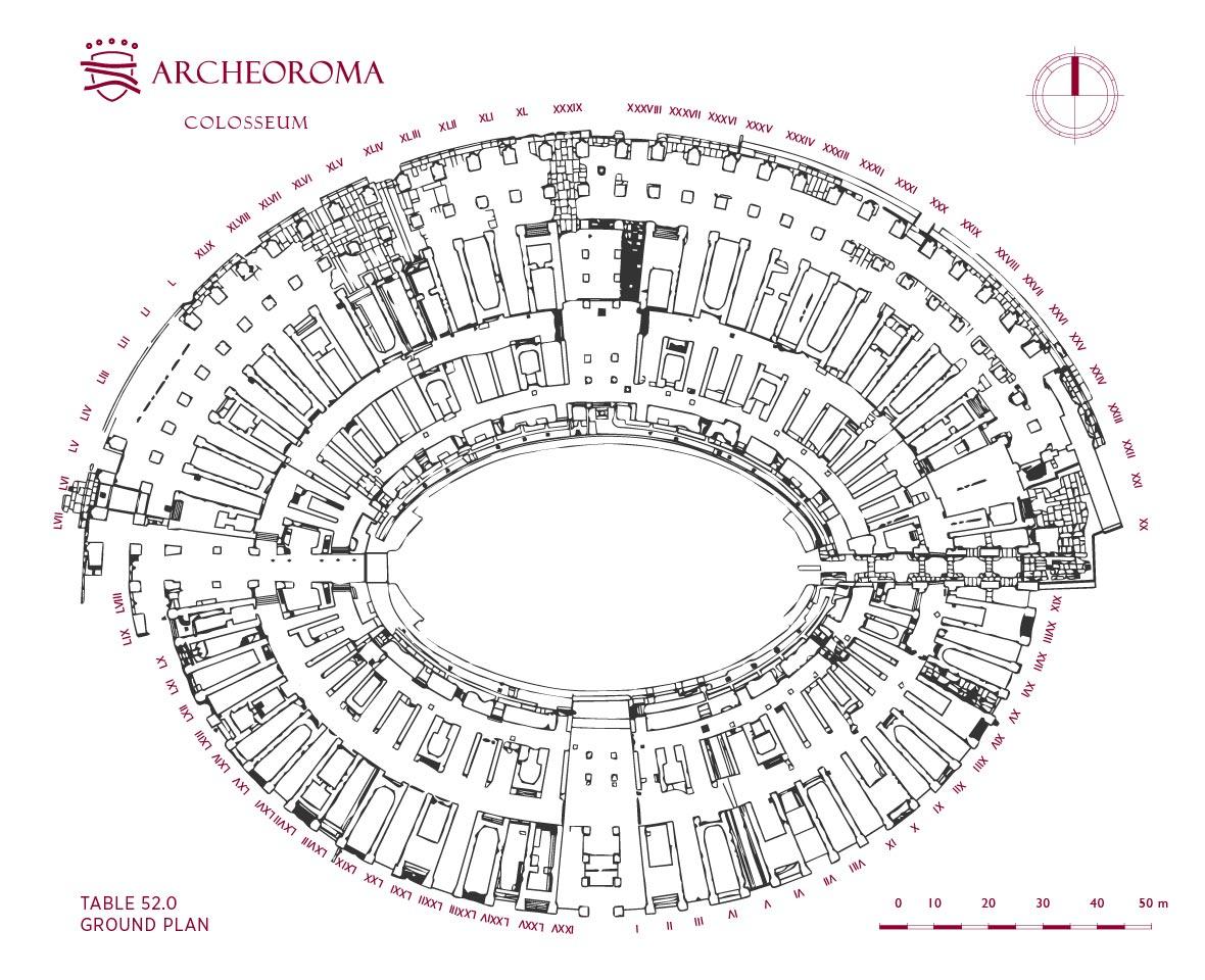 Ground Plan Of The Colosseum Flavian Amphitheatre