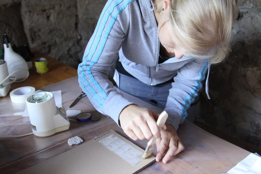 Working on the monuments. Pompeii sustainable peservation project