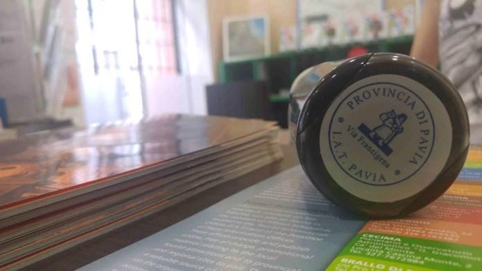 timbro Francigena, Pavia, passaporto del pellegrino