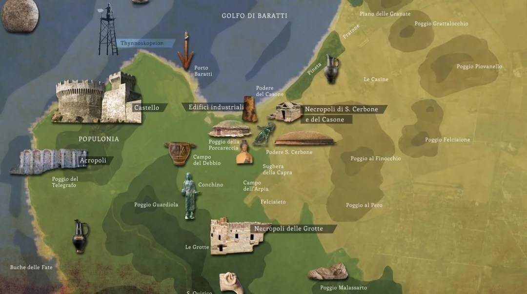 Nubifragio a Baratti: i siti del territorio