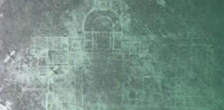 La Villa ad duas lauros foto aerea anni Cinquanta