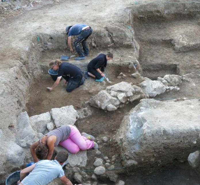 Ischia 2017 durante lo scavo