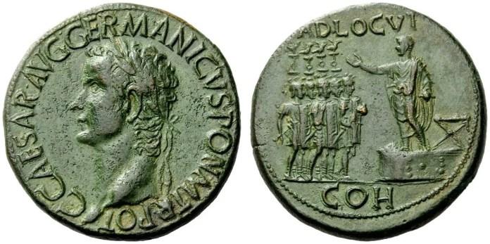 sesterzio di Caligola