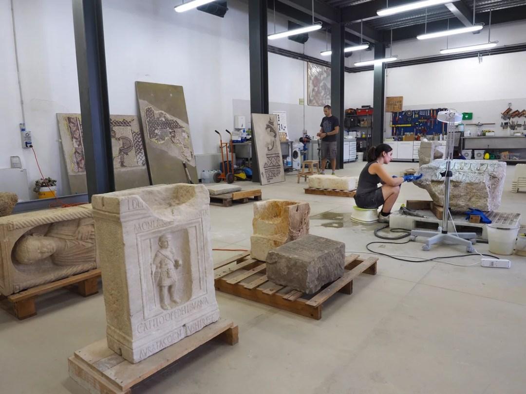 Museo di Classe: laboratorio di restauro