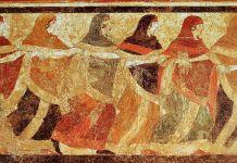 guerriero fantasma danzatrici Ruvo di Puglia