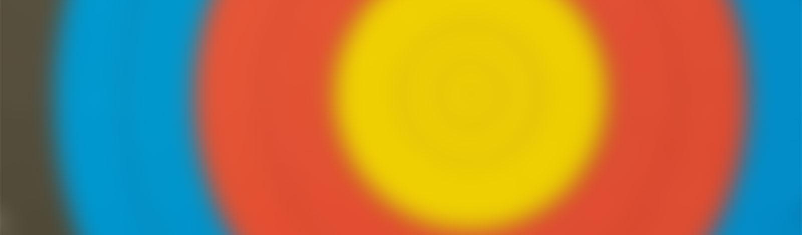 Verschwommene Farben einer Zielauflage