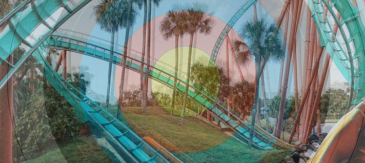 Achterbahn - Rollercoaster mit WA 40 cm Auflage