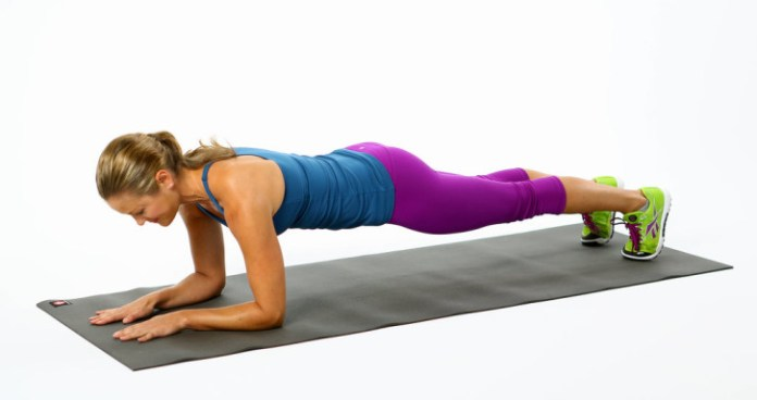 Plank exercises, like this elbow plank, are a great way to strengthen your core. Photo credit: Pop Sugar Fitness