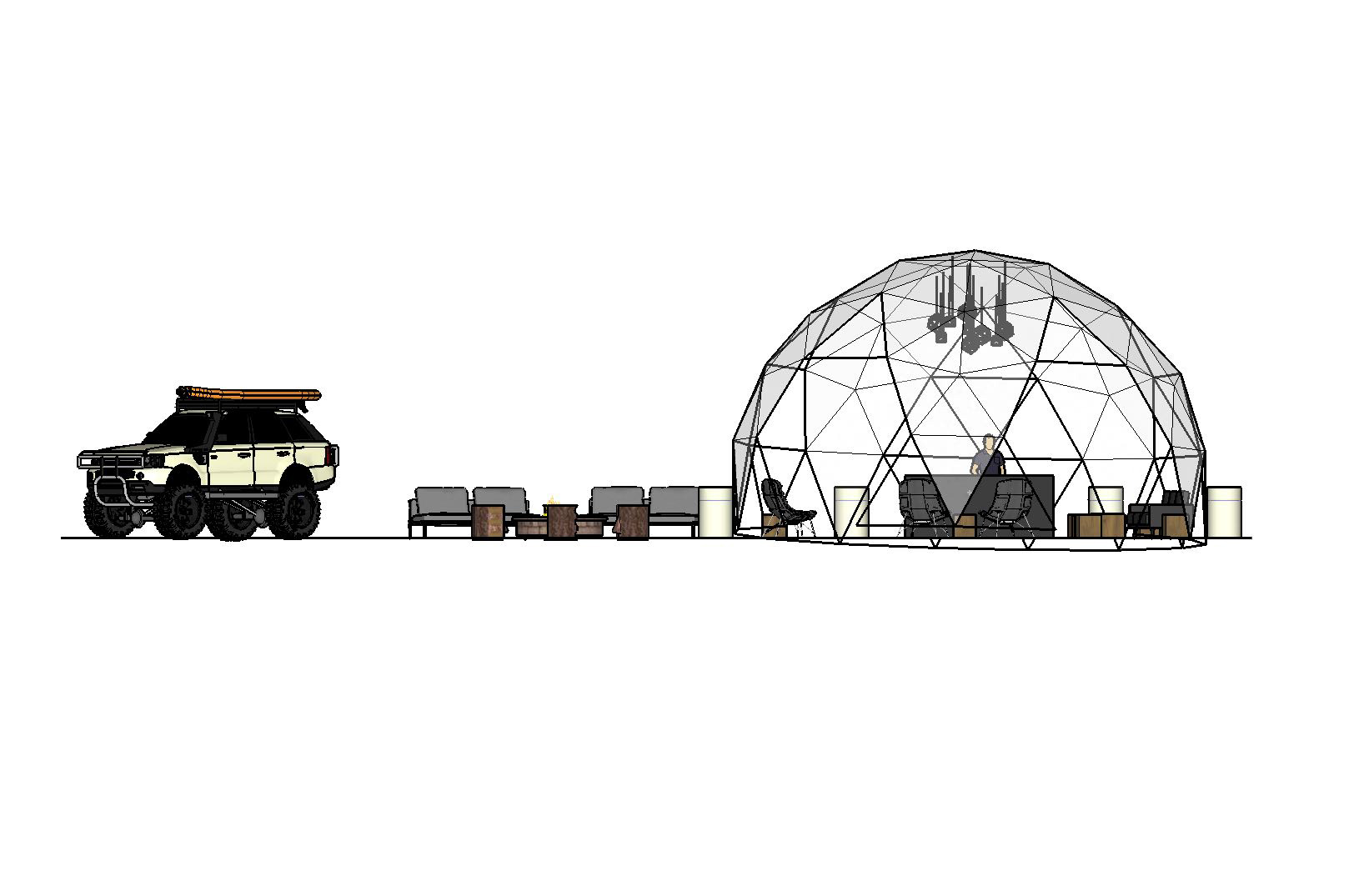 Land Rover Geodesic Dome