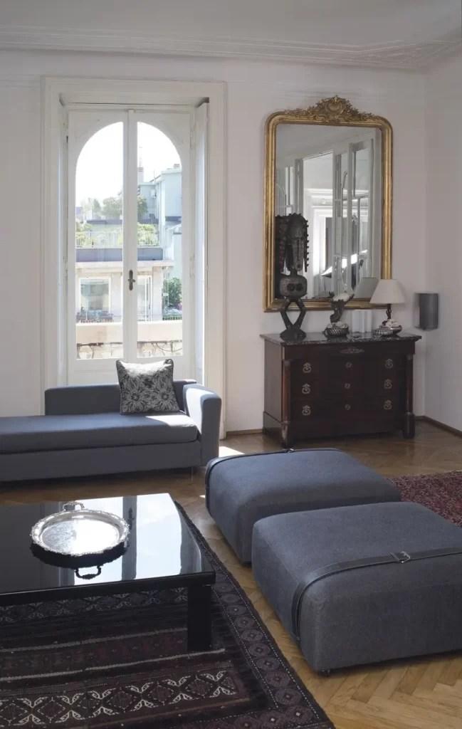 Apartment Design Ideas - Antique Furniture Meets Modern ...