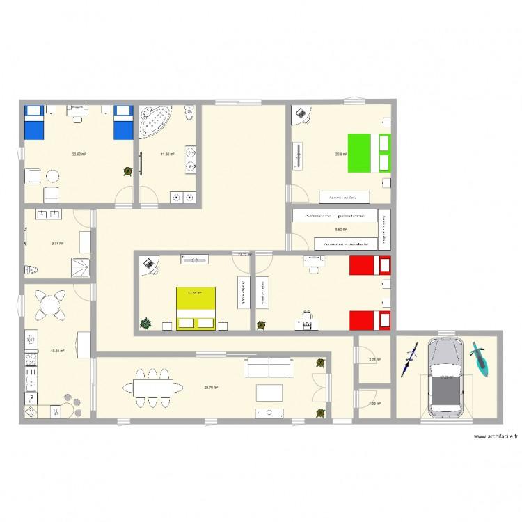 Plan Maison Espagnol Plan 12 Pices 237 M2 Dessin Par