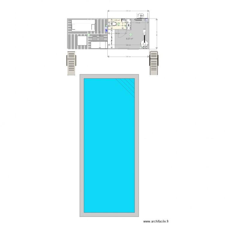WC Piscine 2 Plan 2 Pices 8 M2 Dessin Par J