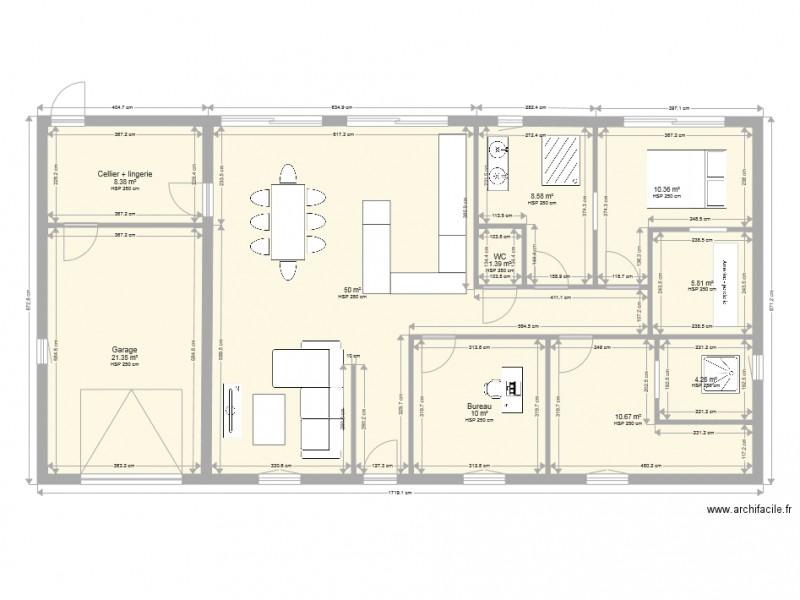 maison plain pied 130 m2 rectangle