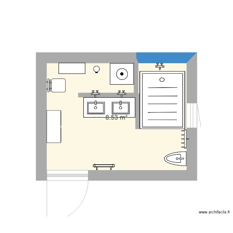 Salle De Bain Plan 1 Piece 9 M2 Dessine Par Zorrophil2018