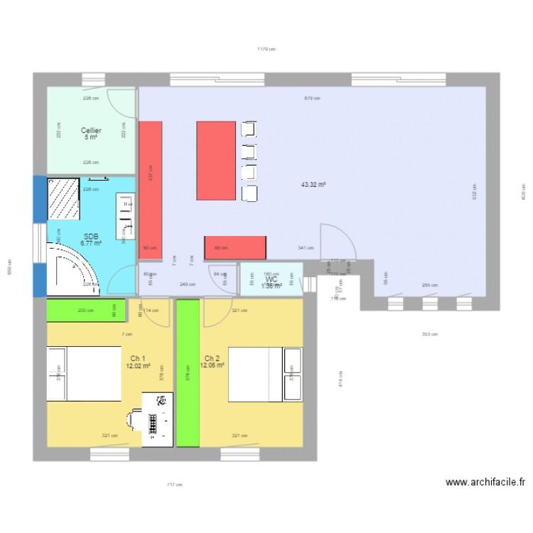 DUPONT CARNEAU Plan 7 Pices 81 M2 Dessin Par Yodomike