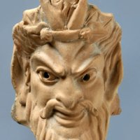 Piccola maschera di Sileno - Terracotta - Inv. STG 324