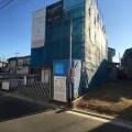 新座市SE構法の注文住宅の外観現場写真