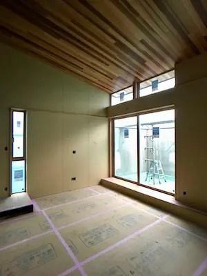 新座市注文住宅の木工事完了写真